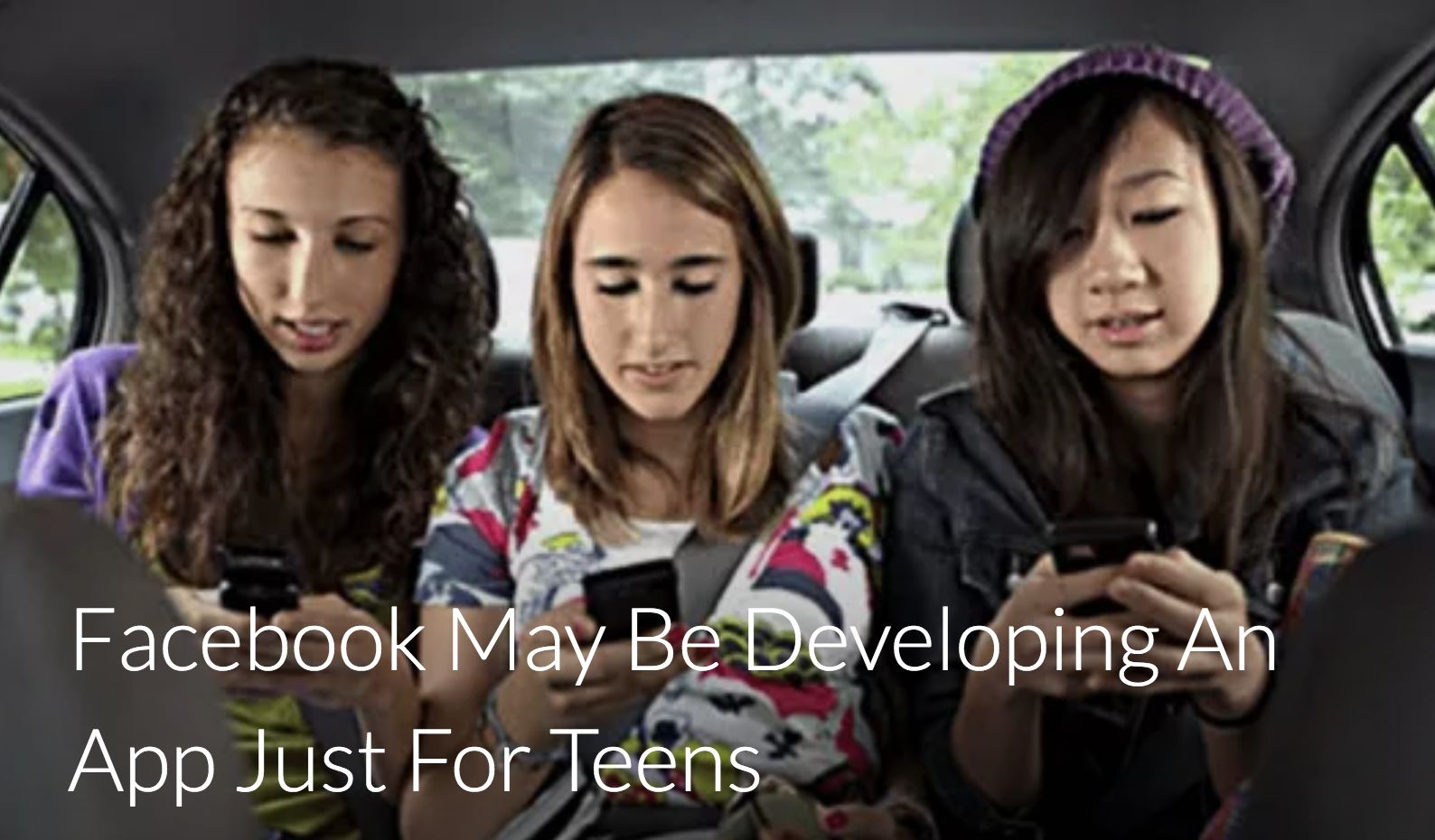 Facebook May Be Developing An App Just For Teens