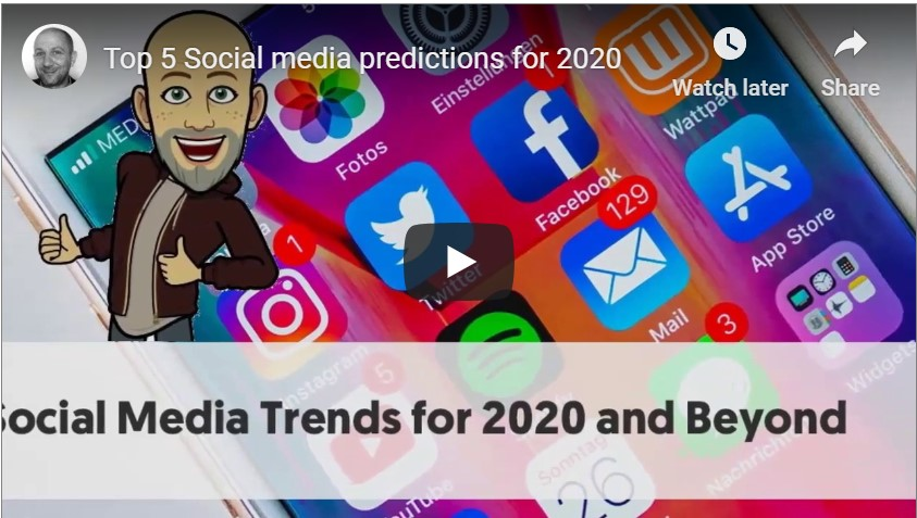 Top 5 Social media predictions for 2020